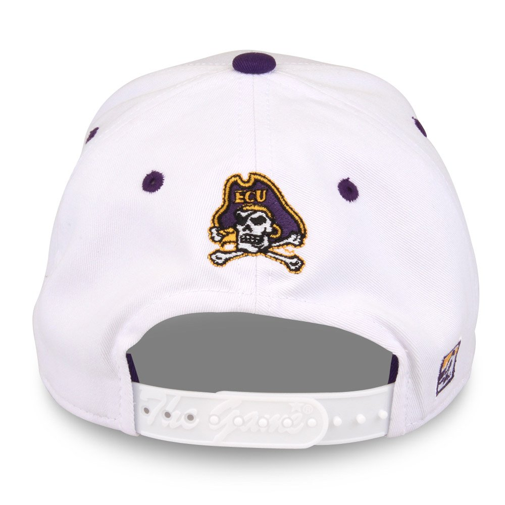 Adjustable White NCAA East Carolina Pirates Unisex NCAA The Game bar Design Hat