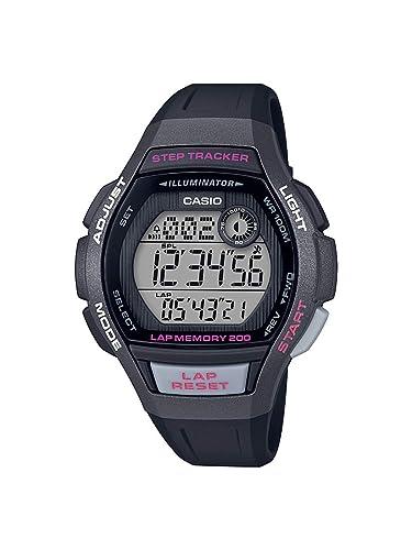 CASIO Reloj Digital para Mujer de Cuarzo con Correa en Resina LWS-2000H-1AVEF: Amazon.es: Relojes