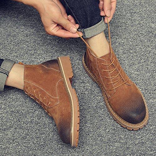 HL-PYL - Retro Martin Stiefel und Stiefel für Martin Schuhe und Stiefel 44 gelb