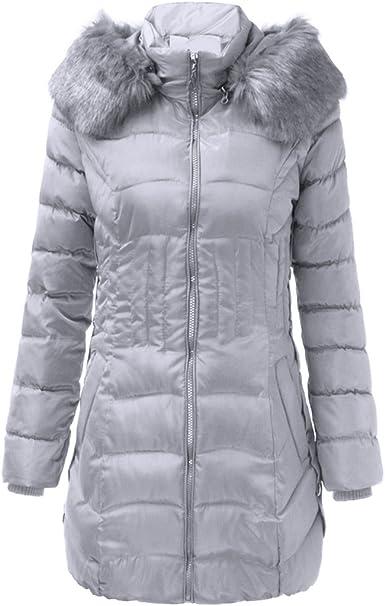2017 Grande Taille Manteau à Fourrure Capuche Femme Mi Long