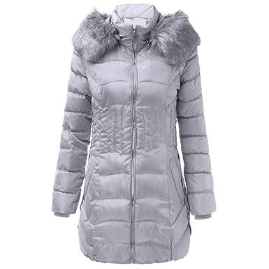Duvet Duvet Jacket Hiver Mioim Doudoune Mi Manteau Elegant Elegant Elegant Long Femme AqwnSBWU