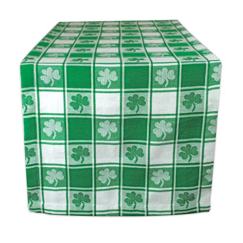 Shamrock Table Runner - DII 100% Cotton, Machine Washable, Party, St Patrick's Day & Spring Table Runner, 14x72