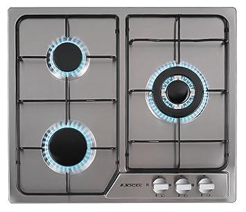nouveau produit 54484 141e9 Jocel Plaque de cuisson au gaz encastrable, 3 feux, inox ...