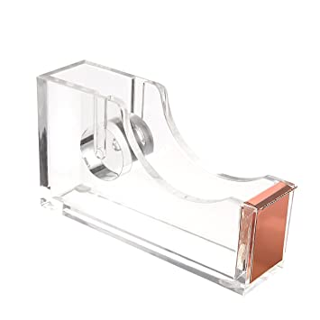 Clear Tape Dispenser   Acrylic Desk Accessories, Clear Office Supplies,  Tape Holder   4.5