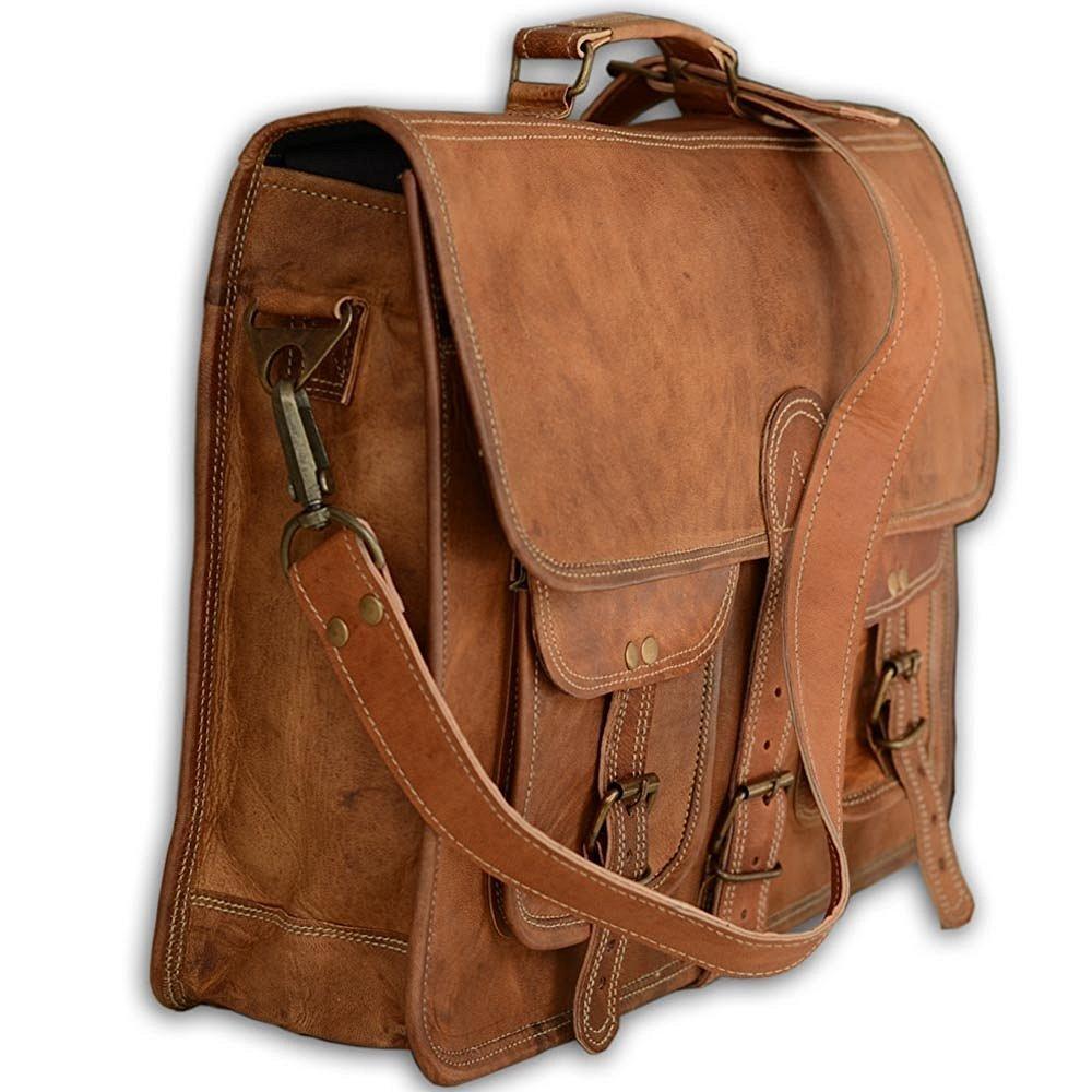 Cool Stuff Leder, Bag, Handtaschen, Messenger Bag, Leder, Businesstaschen, Aktentaschen, Laptoptaschen, Notebooktaschen, Umhängetaschen Natur-Leder 5d2fab