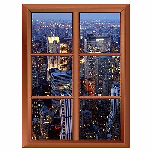 Removable Wall Sticker Wall Mural New York City Creative Window View Vinyl Sticker