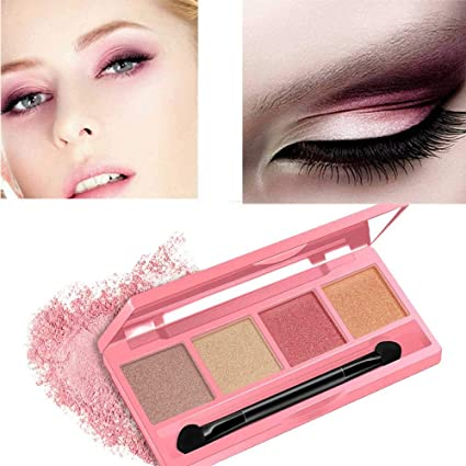 00f8d4bf03 Buy Atoz prime Best Deal 1Pcs Women Four-Color Eye Shadow Plate With a  brush Beautiful Easy To Make Makeup Tool Online at Low Prices in India -  Amazon.in