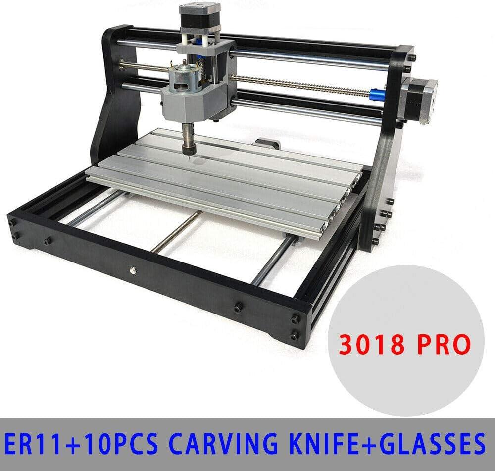 2500MW Laser Head USA CNC 3018 Pro MAX Woodworking Laser Engraver PCB DIY Mill