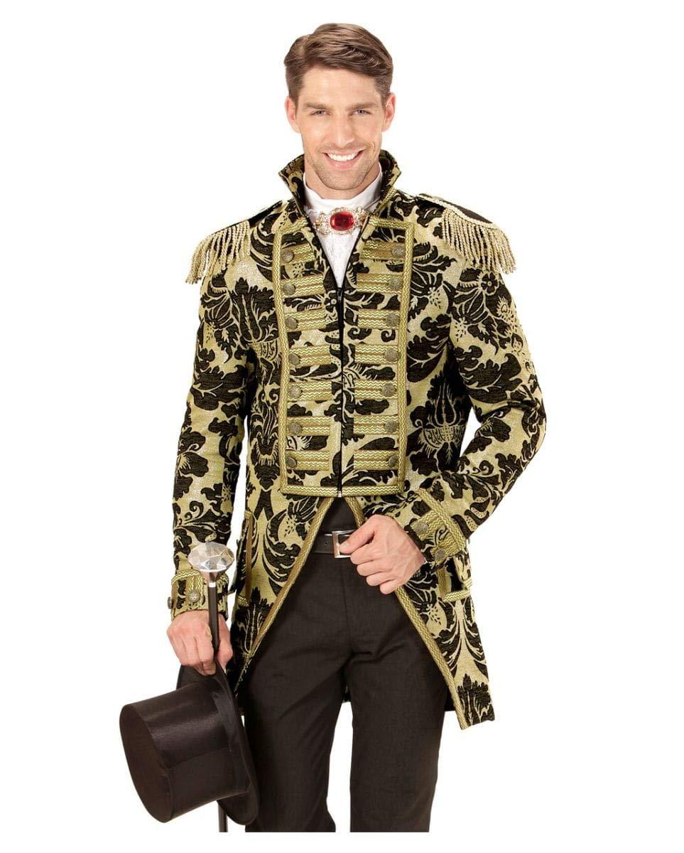 Horror-Shop Veneciana vestido de traje militar oro negro L ...