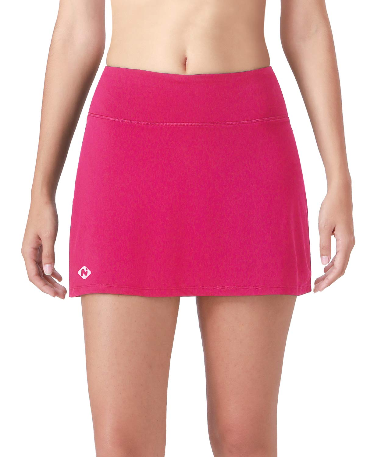 Naviskin Women's Active Athletic Skort Lightweight Skirt with Pockets Inner Shorts Perfect for Running Golf Tennis Workout Casual Use Rose Red Size M by Naviskin