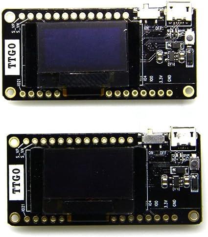 Aihasd TTGO LORA32 V2.0 868Mhz ESP32 LoRa OLED 0.96 Inch SD Card Blue Display ESP32 Bluetooth WiFi Module with Antenna