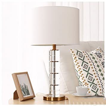 Lámpara de mesa de mesita de noche de cristal Lámpara de ...