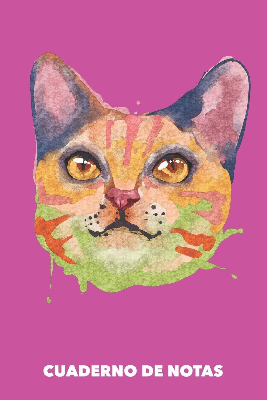 Cuaderno de Notas: Gato Acuarela A5 en blanco - 120 páginas ...