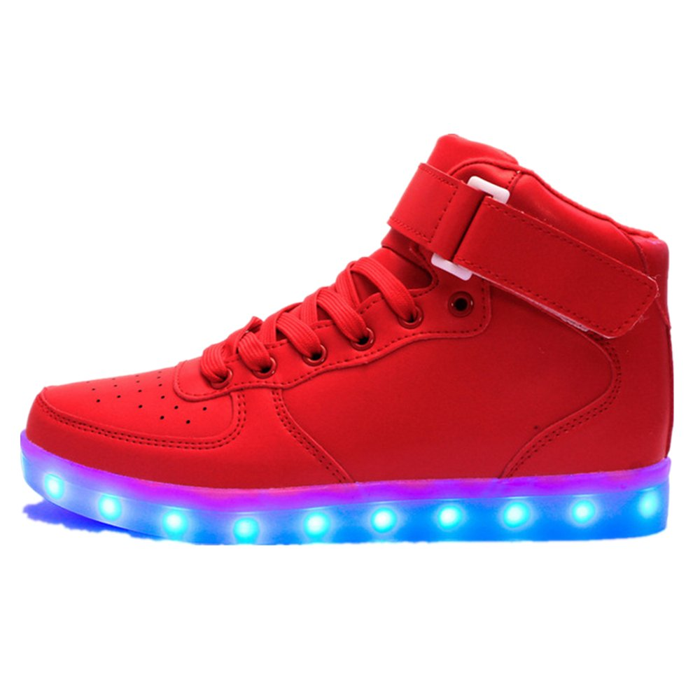 Kids Boy and Girl's High Top Led Sneakers Light Up Flashing Shoes(Toddler/Little Kid/Big Kid)