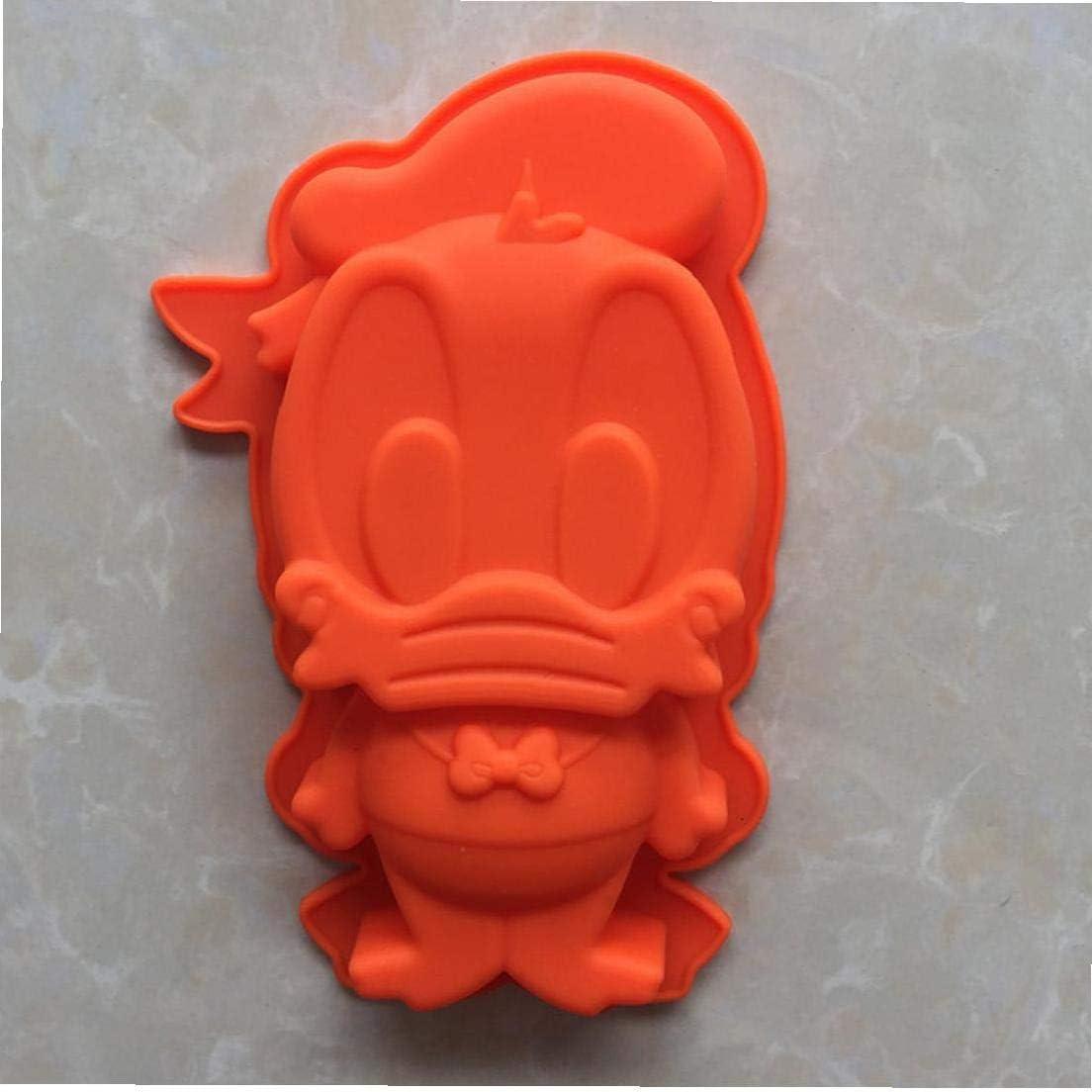 Paperino torta muffa del fondente stampo in silicone per Candy Chocolate Supplies Bakeware