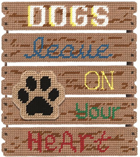 Janlynn Dogs Leave Paw Prints Pallet-ables Plastic Canvas Kit