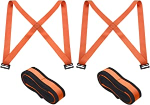 JCHL Moving Straps Lifting Strap for Furniture Appliances Mattresses Heavy Objects up to 800 Pounds 2-Person Furniture Moving Straps Appliances Carrying Orange