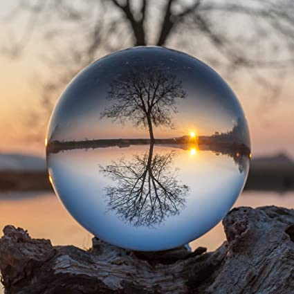 Lulonpon Lens Ball with Pouch K9 Crystal Sphere Ball with Microfiber Pouch,Crystal Photography Lens Ball Prop Decoration Art Decor