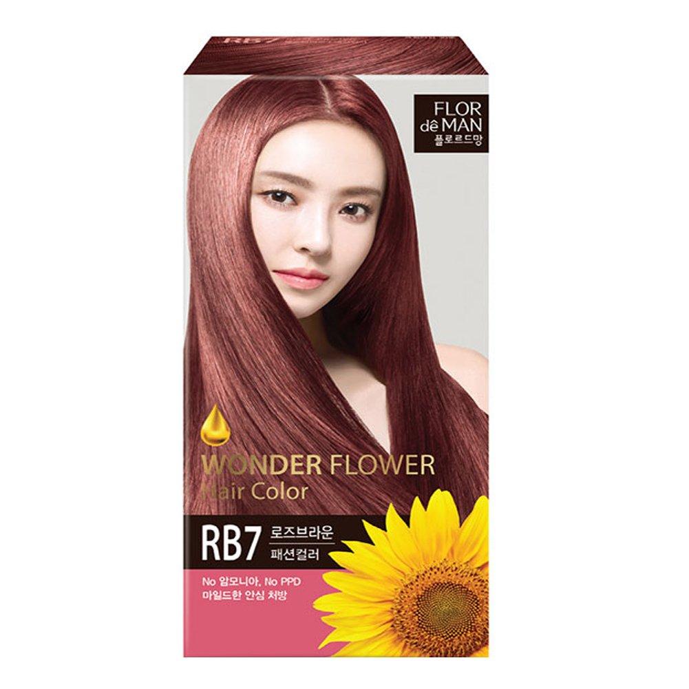 Somang Flor De Man Wonder Flower Hair Color Rose Brown Rb7 No
