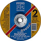 PFERD 63341 Duodisc Combination Cutting/Grinding Wheel, Type 27, Aluminum Oxide A, 6'' Diameter x 1/8'' Thick, 5/8-11'' Thread, 10200 Max RPM (Pack of 10)