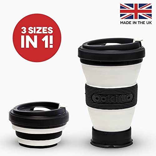 black collapsible coffee cup a reusable folding travel. Black Bedroom Furniture Sets. Home Design Ideas