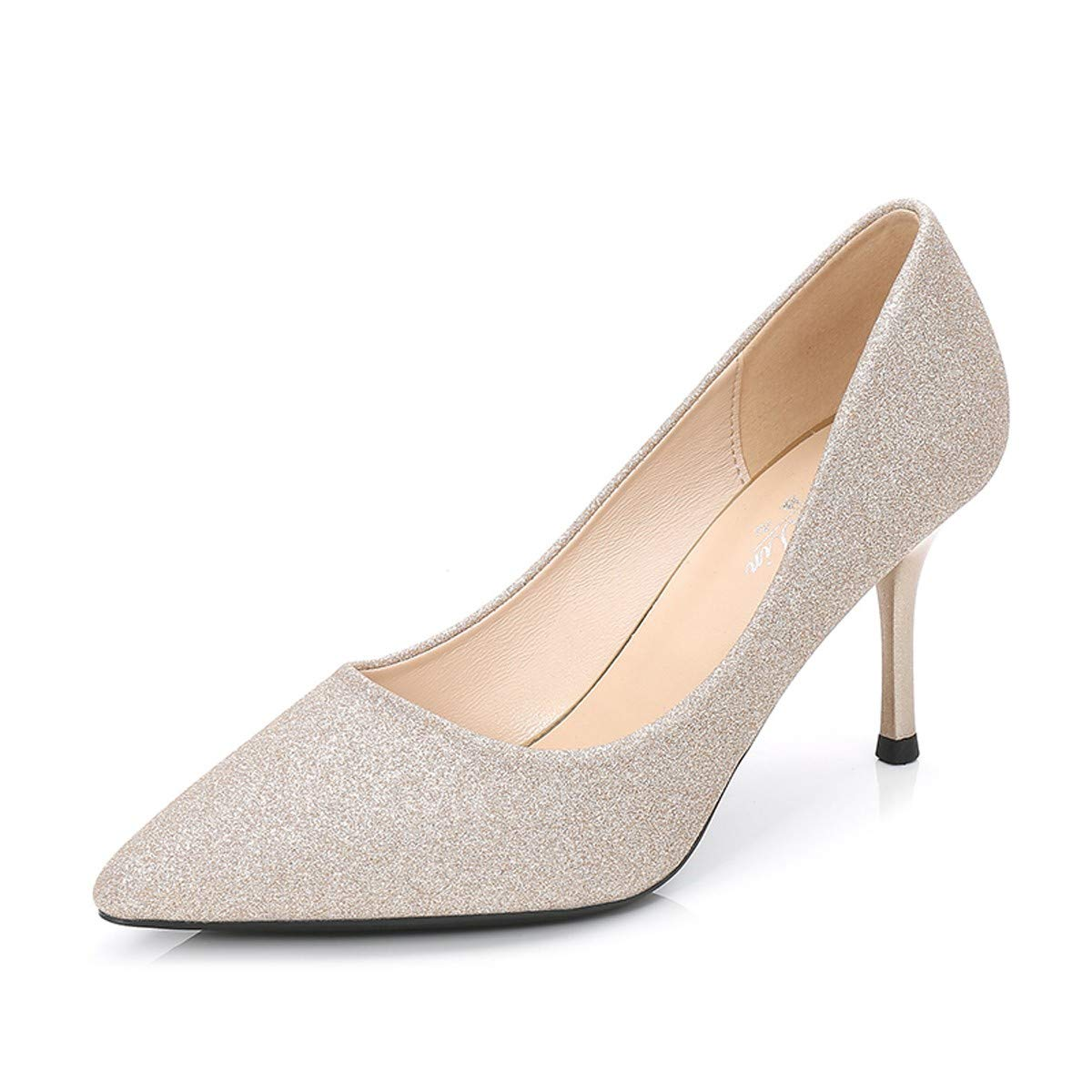 HBDLH Damenschuhe/Gut Bei Fuß Brautjungfer 8 cm High Heels Bankett Sexy 100 Sätze Winter Hochzeit Schuhe Schuhe