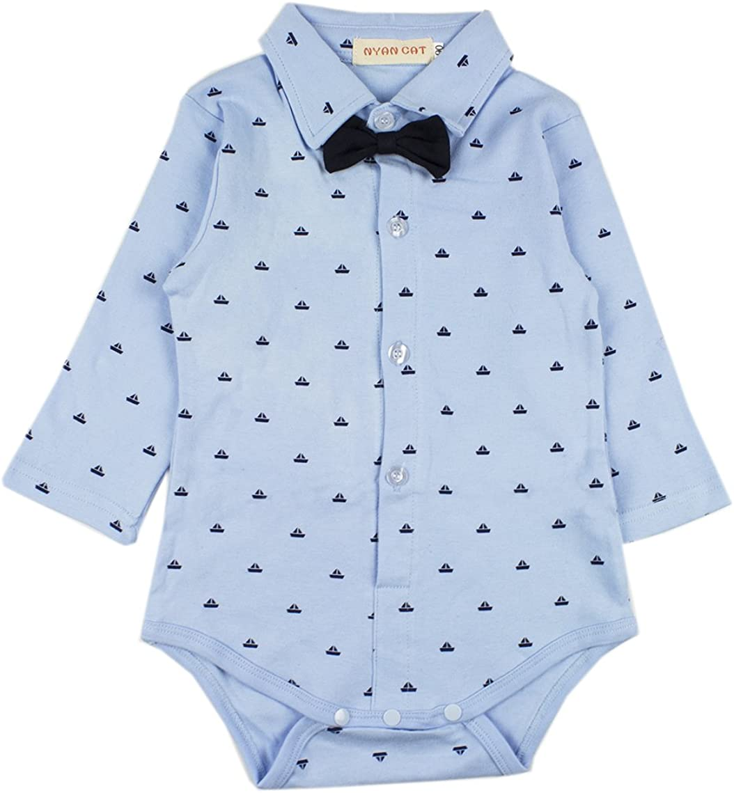 SOBOWO 2-Piece Unisex Baby Bodysuit and Pants Outfits Set for Newborn Boys Girls 0-6 Months