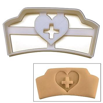 Médicos de enfermera sombrero cortador de galletas, 1 pc, ideal para fiestas o como regalos para Enfermeras: Amazon.es: Hogar