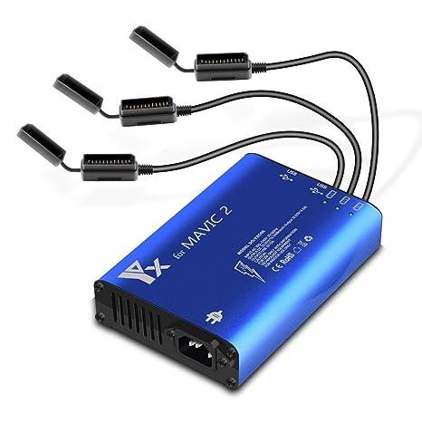 Ksruee Cargador Multi-batería Inteligente y equilibrado rápido 5 en 1 Administrador de batería Cargador para dji Mavic 2 Pro/Zoom