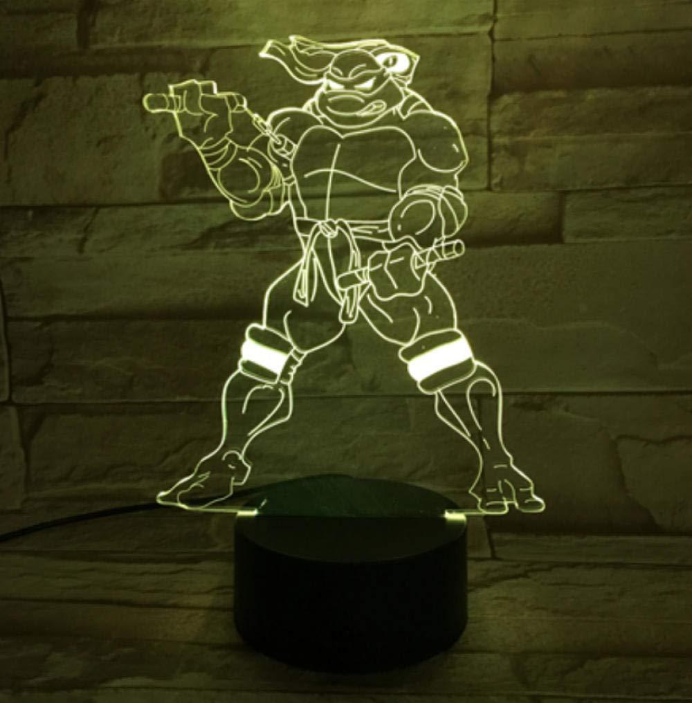 Luz de la noche Lámpara de luz nocturna LED 3d Tortugas ...