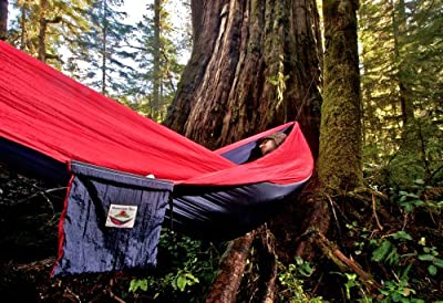 """Hammock Bliss Single -100"""" Rope Per Side Included - Portable Hammock Ideal For Camping, Backpacking, Kayaking & Travel"""