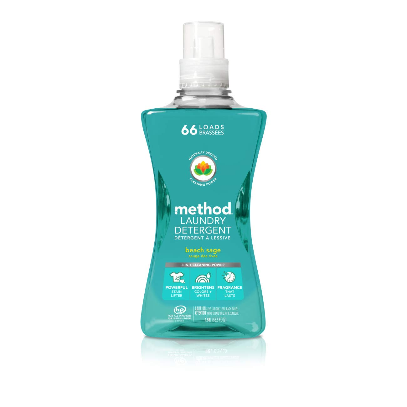 Method Laundry Detergent, Beach Sage, 53.5 Ounces, 66 Loads