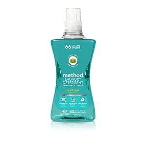Method Laundry Detergent, Beach Sage, 53.5 Ounces, 66 Loads