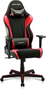 DXRacer Racing Series Gaming Ergonomic Home Office Comfortable Desk Back Computer Chair | Height Swivel, 3D armrest, Strong Mesh and PU Leather, Standard, Black & Red