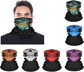 3Pcs Multifunctional Headwear Face Mask Cowboy Bandanas for Men Women Head Scarf Novelty Print Head Wrap Scarf Wristband for Party Favor Workout Yoga Running Hiking Riding Motorcycling