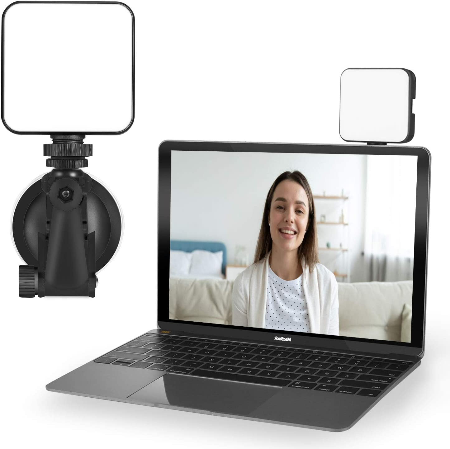 Light for Video Conferencing   Video Conference Lighting Kit   Cube Laptop Computer Webcam Light for Video Conferencing - Self Broadcast - Zoom Call Meeting - Microsoft Teams - Live Streaming