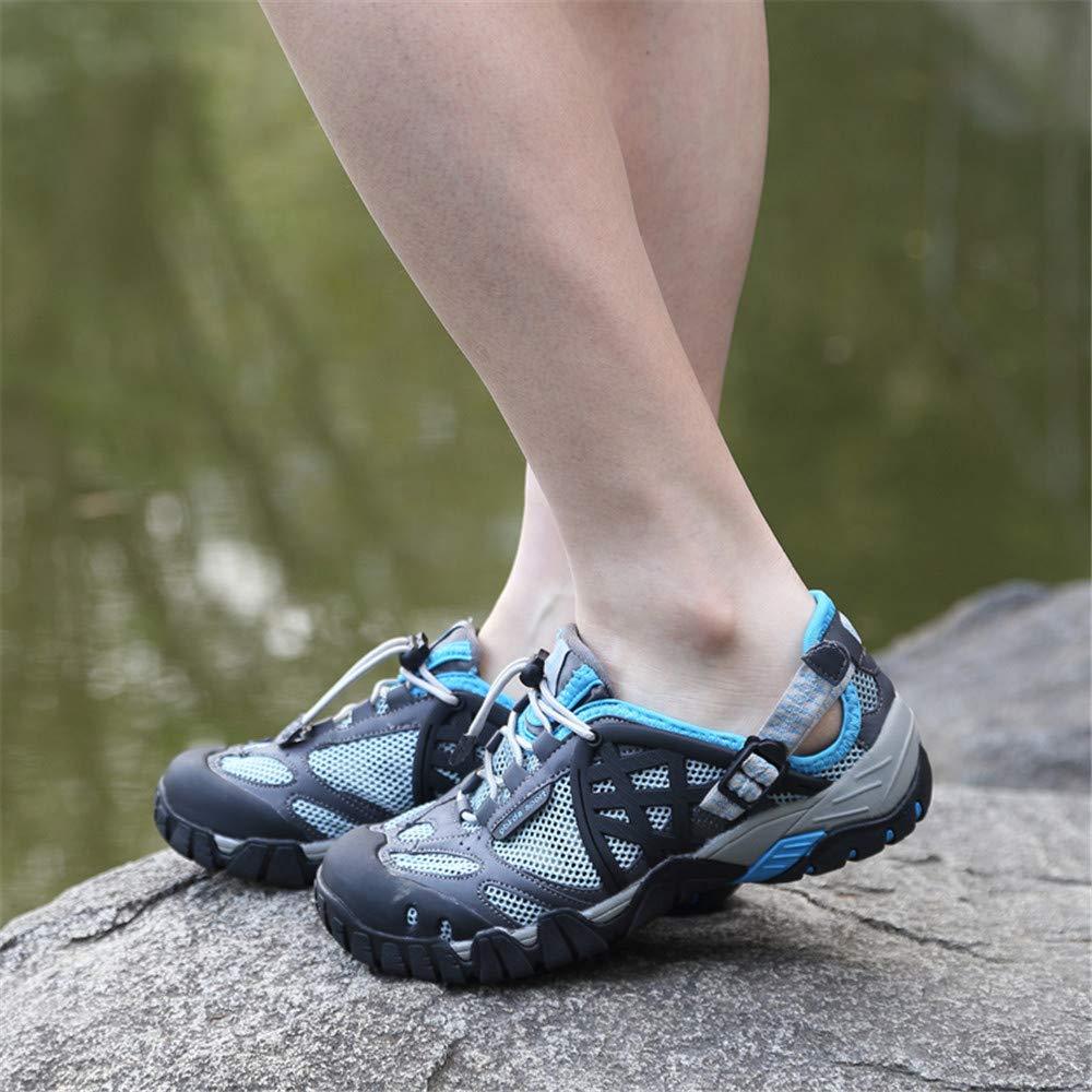 Willsky Herren Wanderschuhe, leichte Wanderschuhe Wasserschuhe Schnelltrocknend Atmungsaktiv Atmungsaktiv Atmungsaktiv Rutschfest Unisex für Trekking Reisen Klettern,Blau,39 17ef14