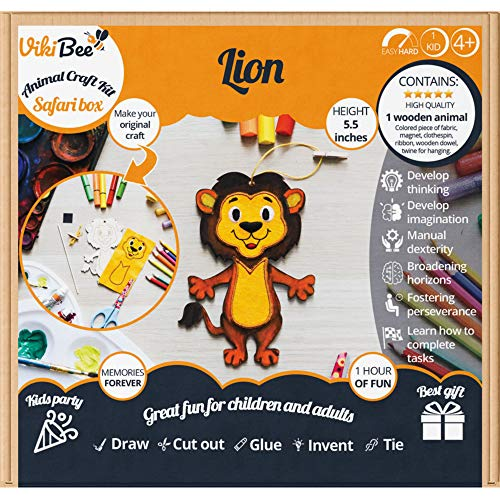 Safari Animals Wooden Crafts Lion - Wood Animals - for sale  Delivered anywhere in USA