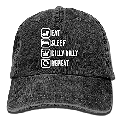 STXG-27 Funny Eat Sleep Dilly Dilly Repeat Unisex Baseball Hat Cowboy Cap Sun Hats Trucker Hats