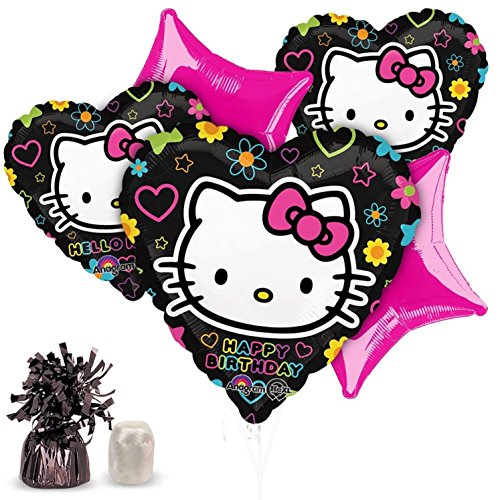 Halloween Super Center (Costume Supercenter BBBK100 Neon Hello Kitty Balloon Kit (Each))