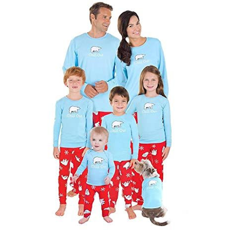 517fa69a94 family christmas pajamafheaven baby dad mom cartoon polar bear blouse pants family  pajamas matching