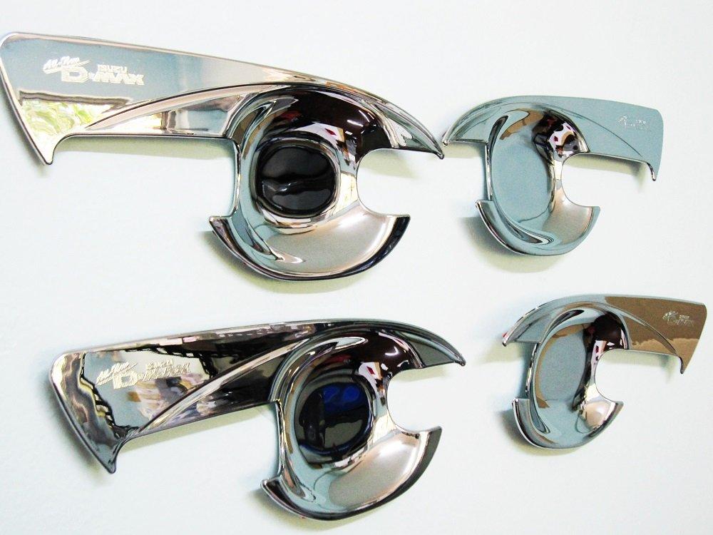 Chrome 2Door Bowl Housing Handle Cover Fit Isuzu Dmax D-Max Hi-Lander 2012 15 17