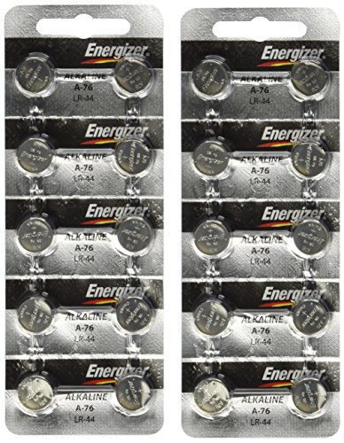 Energizer A76 LR44 1.5V Watch / Electronic Button Cell Battery (20 Pack) (Electronic Household)
