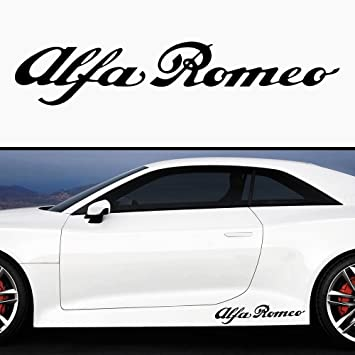 2x Racing Sticker Alfa Romeo Cuore Sportivo 35cm Farbwahl Decal Tuning Aufkleber Sticker Auto Motorrad Pick Up Küche Haushalt