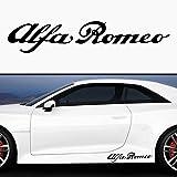 2x Racing pegatinas Alfa Romeo Cuore Sportivo 35cm (Color a elegir) Decal Tuning Pegatina para coche moto Pick Up