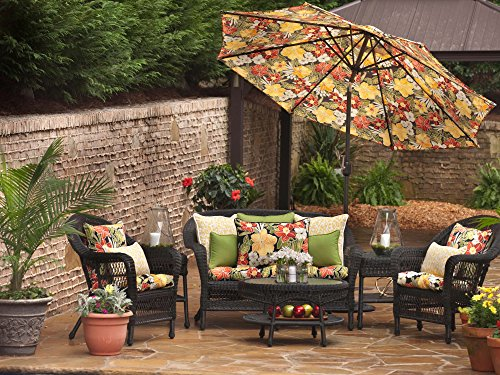 Pillow Perfect Outdoor Clemens Wicker Seat Cushion Noir Set Of 2