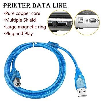 U&TE USB Cable de Impresora, 1,5 m 0,3 m de extensión Print Cable USB