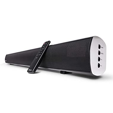 2.1 Channel Bluetooth Sound Bar, Wohome TV Soundbar with Built-in Subwoofer(Wireless Home Theater Sound Bars Speaker, 38-Inch, 80W, 4 Drivers, Remote Control, Wall Mountable, Model S11)