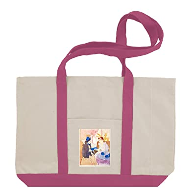Tea In The Afternoon (Cassatt) Cotton Canvas Boat Tote Bag Tote