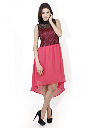 a7aa191fd6a4 Mayra Women s Polyster Partywear Dress  Amazon.in  Clothing ...